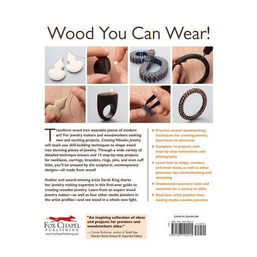View a Larger Image of Creating Wooden Jewelry