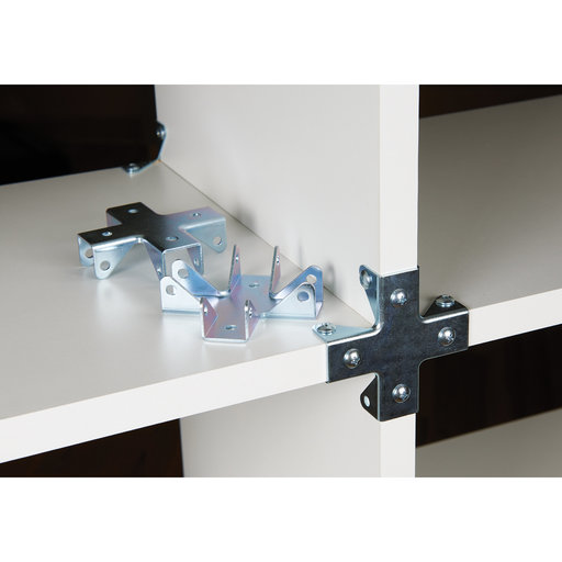 """View a Larger Image of Cross Style Cubby Cube Connector 3/4"""" Zinc 2 pc"""