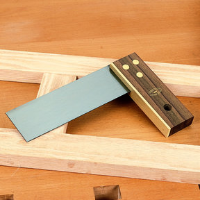 Rosewood and Brass Try Square, 6""