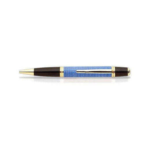View a Larger Image of Curly Maple Pen Blank - Blue