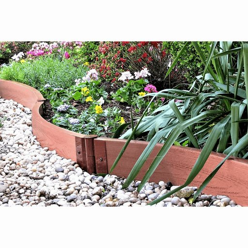"""View a Larger Image of Classic Sienna Curved Landscape Edging Kit 16' – 2"""" profile"""