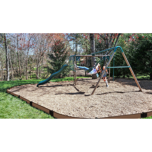 "View a Larger Image of Uptown Brown Curved Playground Border 16' - 1"" profile"
