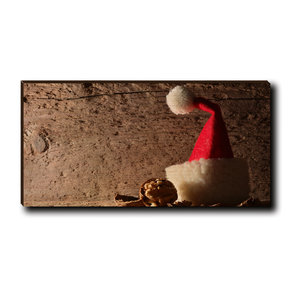 "Cutting Board Here Comes Santa 12"" x 6"""