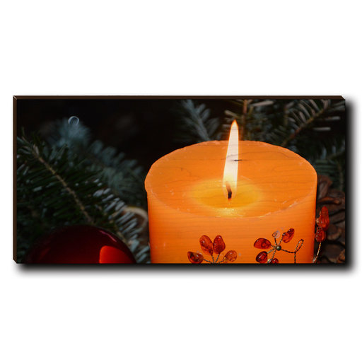 "View a Larger Image of Cutting Board Holiday Candle 12"" x 6"""