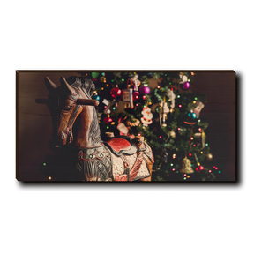 "Cutting Board Holiday Rocking Horse 12"" x 6"""
