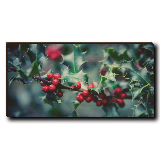 """View a Larger Image of Cutting Board Holly Time 12"""" x 6"""""""
