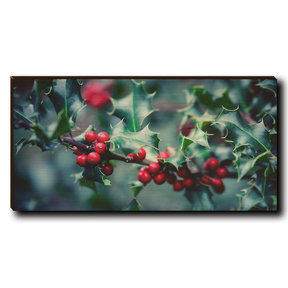 "Cutting Board Holly Time 12"" x 6"""