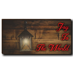 "Cutting Board Joy To The World Red Text 12"" x 6"""