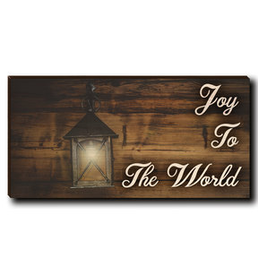 "Cutting Board Joy To The World White Text 12"" x 6"""