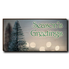 "Cutting Board Season's Greetings Tree 1 12"" x 6"""