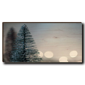 "Cutting Board Season's Greetings Tree 3 12"" x 6"""