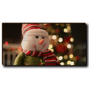 "Cutting Board Snowman Smile 12"" x 6"""