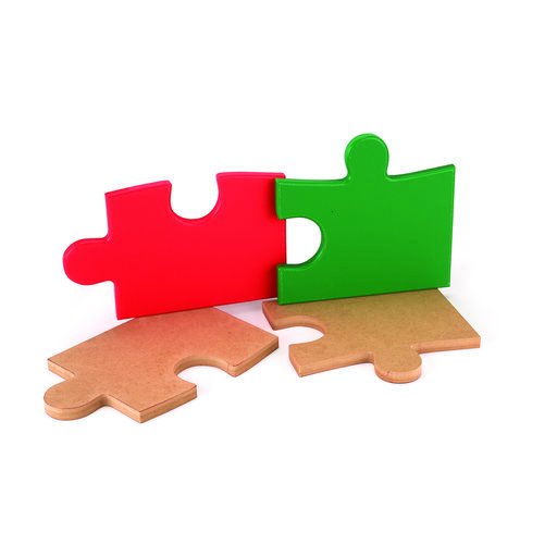 View a Larger Image of Cutting Board Template - Square Puzzle Piece Shape 2-piece