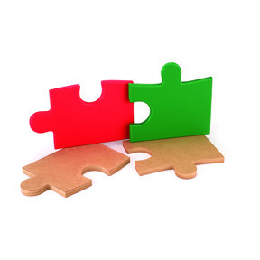 Cutting Board Template - Square Puzzle Piece Shape 2-piece