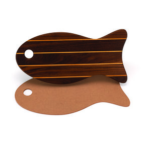 "Cutting Board Template - Fish Shape 15"" x 7-1/2"""