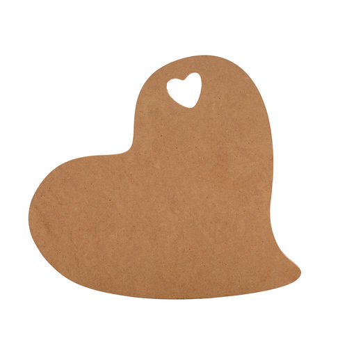 """View a Larger Image of Cutting Board Template - Heart Shape  15-1/2"""" x 10-1/2"""""""