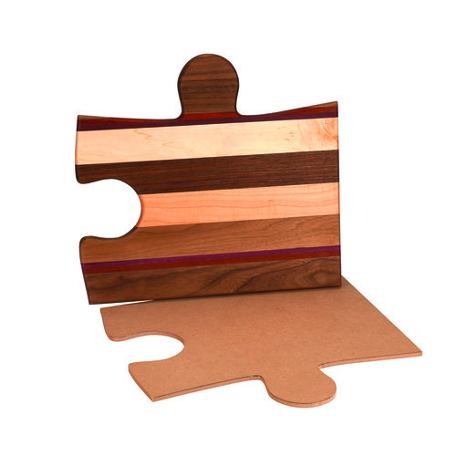 "View a Larger Image of Cutting Board Template - Puzzle Piece Shape B 12-1/2"" x 11-1/2"""