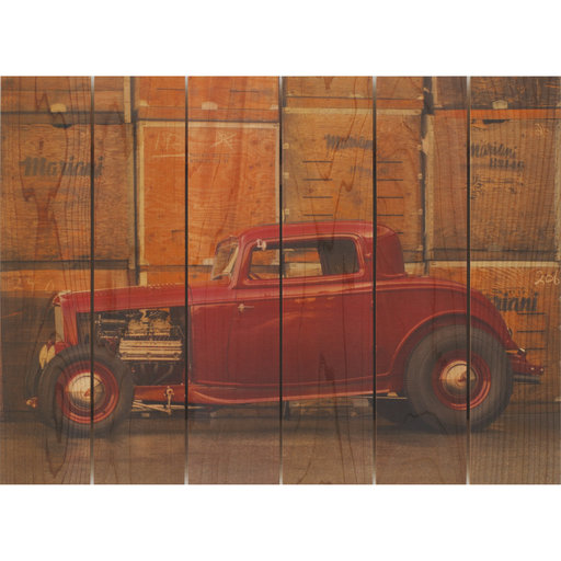 View a Larger Image of Deuce Coupe 22x16 Wood Art