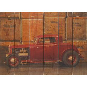 Deuce Coupe 33x24 Wood Art