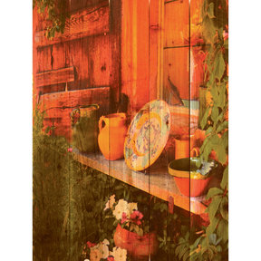 "Daydream Gizaun Cedar Wall Art, French Pottery, 28"" x 36"""