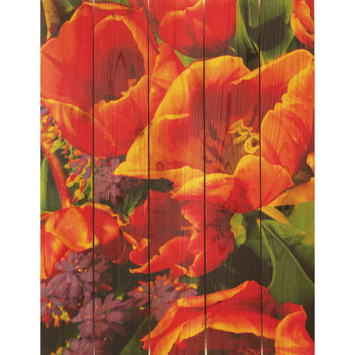View a Larger Image of Full Bloom 16x24 Wood Art