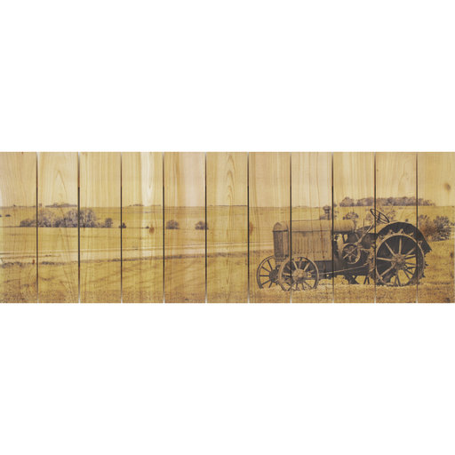 "View a Larger Image of Daydream Gizaun Cedar Wall Art, Heart Land, 32"" x 11"""