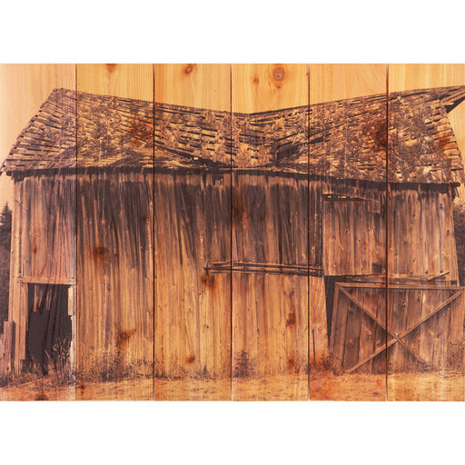 View a Larger Image of Old Barn 33x24 Wood Art