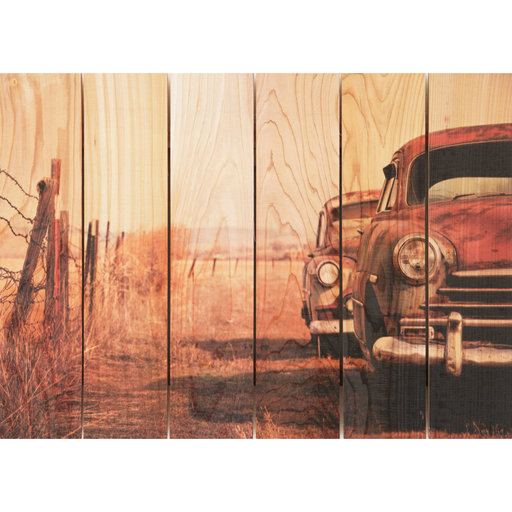 "View a Larger Image of Daydream Gizaun Cedar Wall Art, Rest Stop, 22.5"" x 16"""