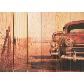 Rest Stop 33x24 Wood Art