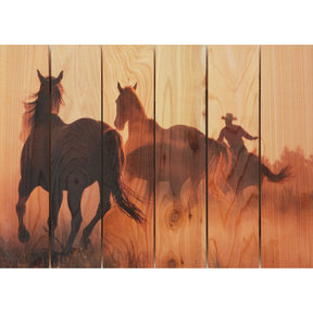 Round Up 33x24 Wood Art