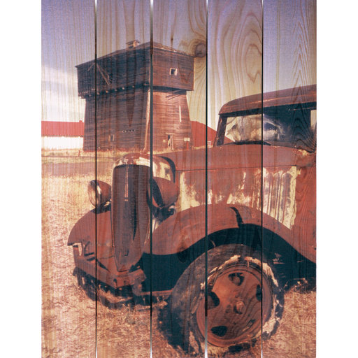 View a Larger Image of Rust Bucket 28x36 Wood Art
