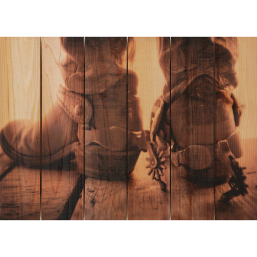 View a Larger Image of Show Down 33x24 Wood Art