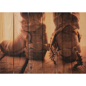 Show Down 33x24 Wood Art