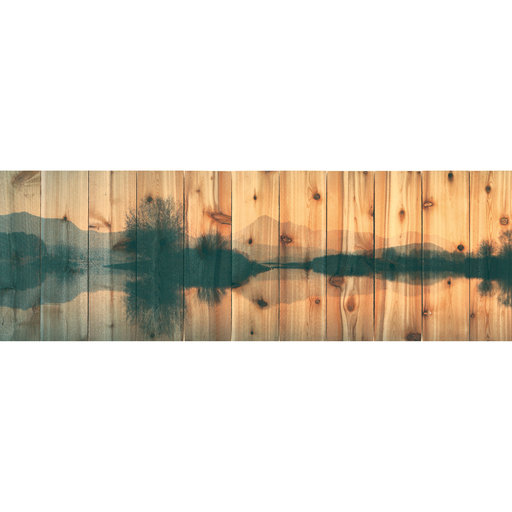 View a Larger Image of Still Lake 62x20 Wood Art