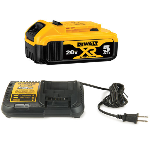 View a Larger Image of Lithium Ion Battery Pack, 20V MAX XR 5.0AH with Charger Kit