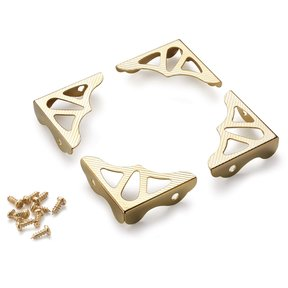 Decorative Box Corners Brass Plated 4-piece