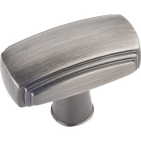 "Delgado Knob, 1-9/16"" O.L.,, Brushed Pewter"