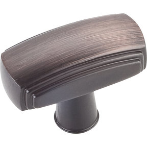 "Delgado Knob, 1-9/16"" O.L.,, Brushed Oil Rubbed Bronze"