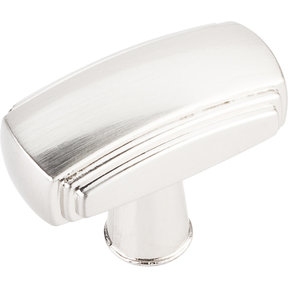 "Delgado Knob, 1-9/16"" O.L.,, Satin Nickel"