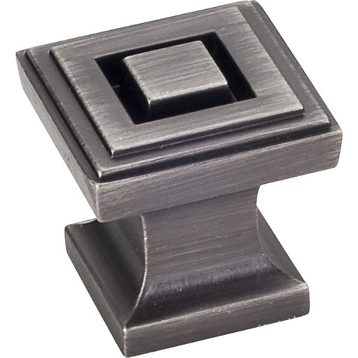 "View a Larger Image of  Delmar Knob 1"" O.L., Brushed Pewter"