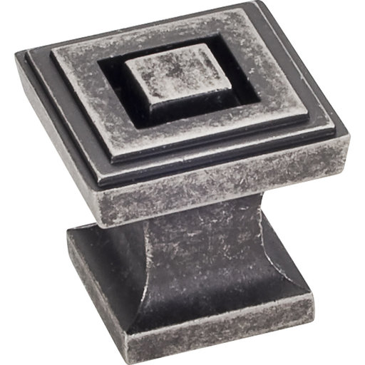 "View a Larger Image of  Delmar Knob 1"" O.L., Distressed Pewter"