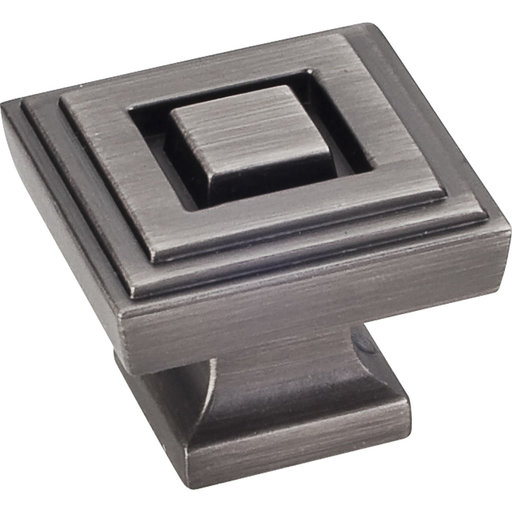 "View a Larger Image of Delmar Large Knob, 1-1/4"" O.L., Brushed Pewter"