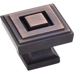 "Delmar Large Knob, 1-1/4"" O.L., Brushed Oil Rubbed Bronze"