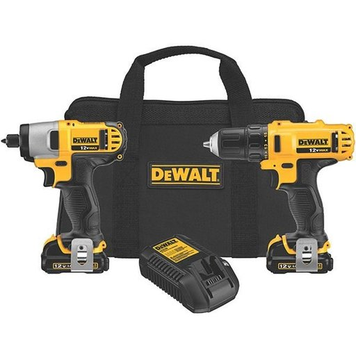 View a Larger Image of 12V MAX Cordless Li-Ion Drill/Driver/Impact Driver Combo Kit, Model DCK211S2