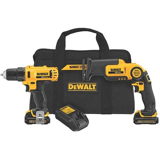 View a Larger Image of 12V MAX Drill/Driver/Reciprocating Saw Combo Kit, Model DCK212S2
