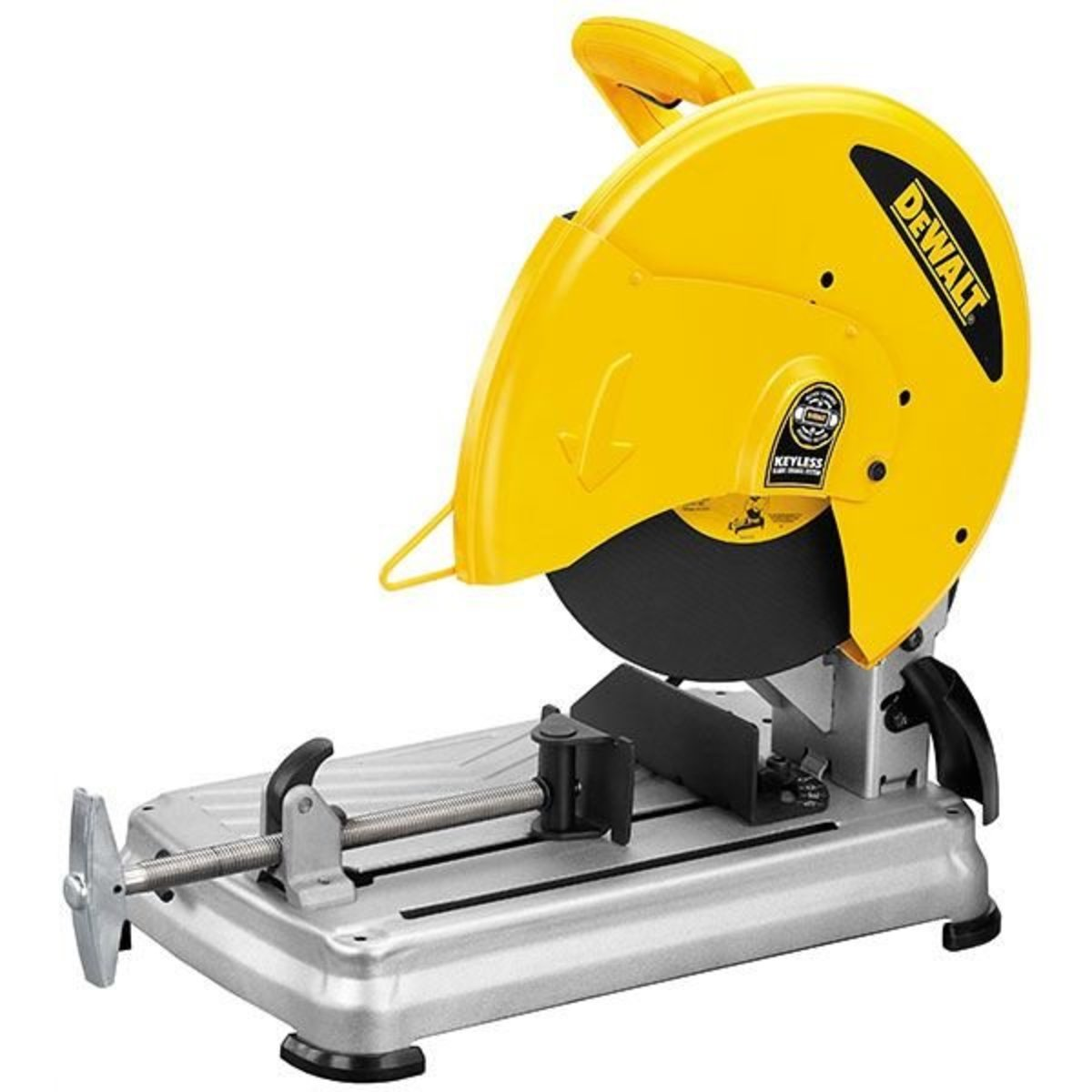 14 chop saw with quik change keyless blade change system model d28715 view a larger image of 14 chop saw with quik change keyless blade change dewalt d28715 greentooth Gallery