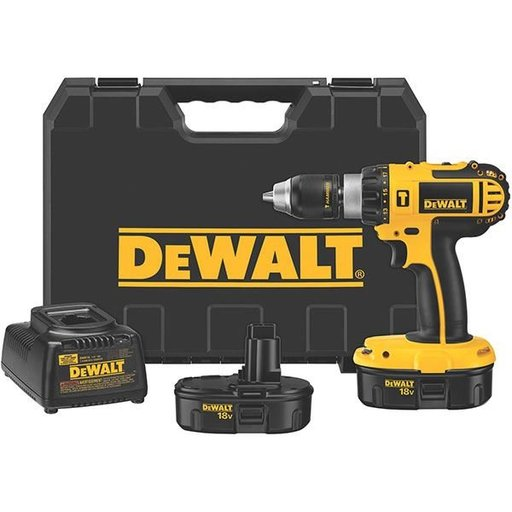 "View a Larger Image of 18V Cordless Compact Hammerdrill Kit, 1/2"", Model DC725KA"