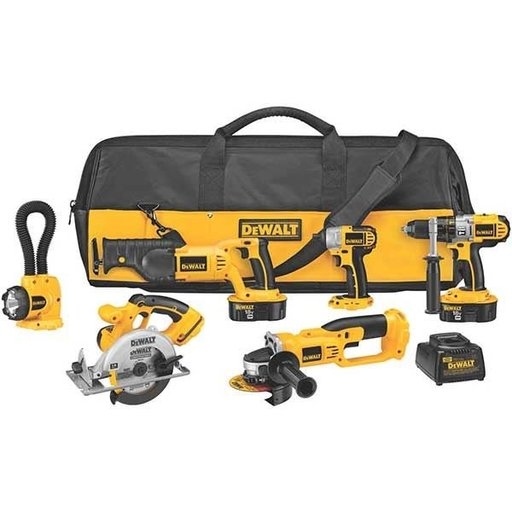 View a Larger Image of 18V Cordless XRP 6-Tool Combo Kit, Model DCK655X