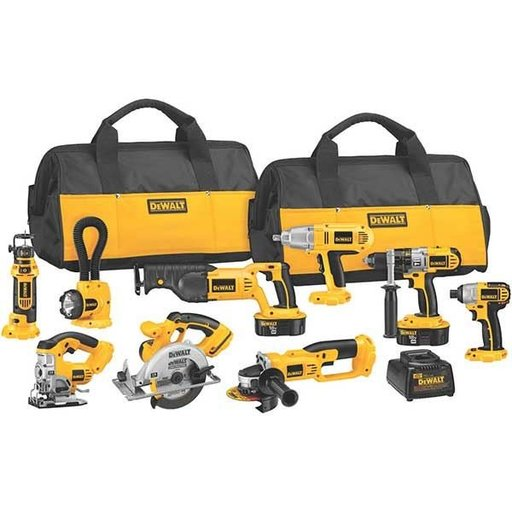 View a Larger Image of 18V Cordless XRP 9-Tool Combo Kit, Model DCK955X