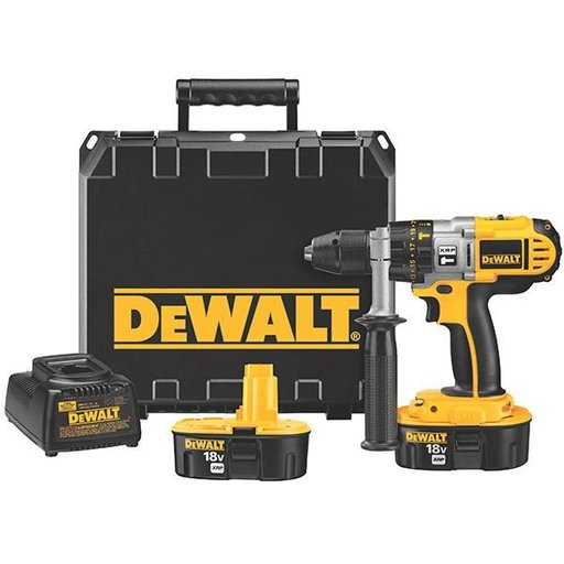 "View a Larger Image of 18V Cordless XRP Hammer Drill/Drill/Driver Kit, 1/2"", Model DCD950KX"